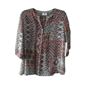 Women's 3/4 sleeve Printed Dress