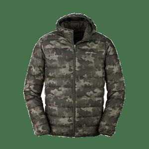 Men's Hoodie Quilted Camo Jacket