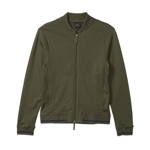 Men's Cross Pockets Zip Through fleece jacket