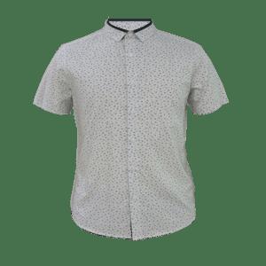 Men's Short Sleeve Double Collar Shirt