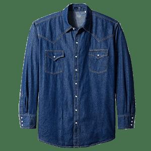 Men's  Long Sleeve Denim western Shirts