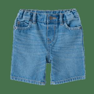 Boy's Elasticated Draw Cord Denim Shorts