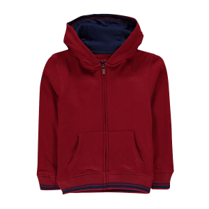 Boy's Knit Lined Fleece Zip Through Hoodie