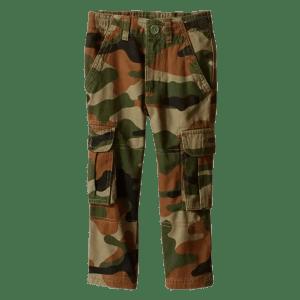 Boy's Camo Cargo Pant