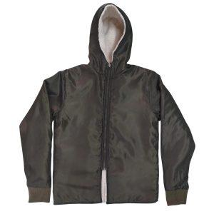 Men's Sherpa lined Hoodies Jacket