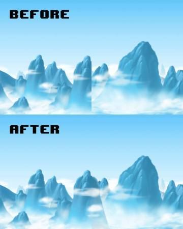 Background painting, making the background seemless