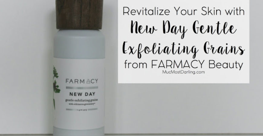 Revitalize Your Skin with New Day Gentle Exfoliating Grains with Echinacea GreenEnvy from Farmacy Beauty