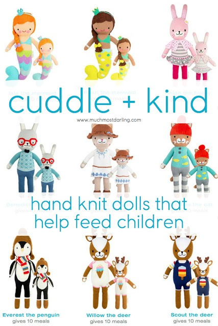 Cuddle + Kind: hand-knit dolls that help feed children