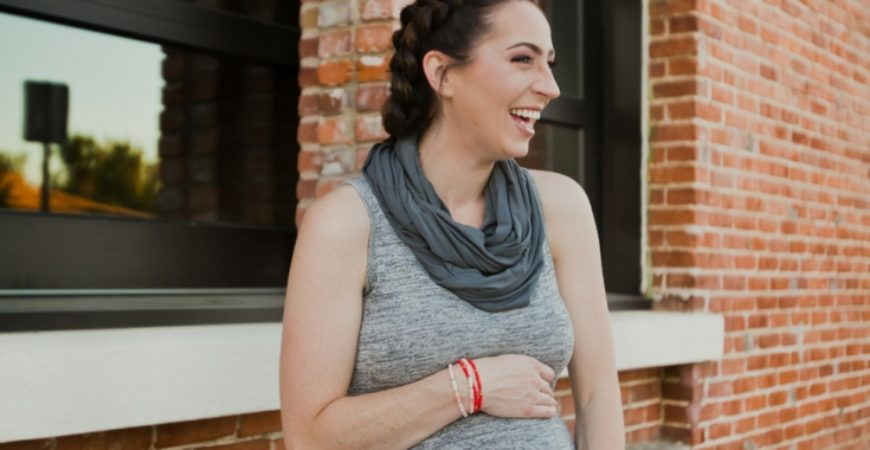 Maternity Style: Grey Seraphine Maxi