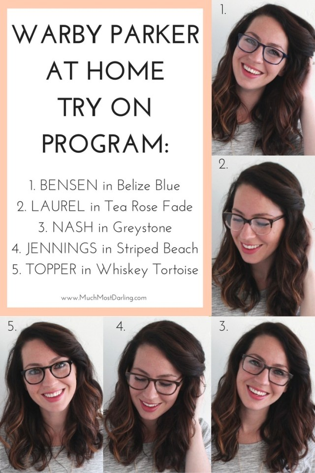 Warby Parker At Home Try On #5 - Much.Most.Darling