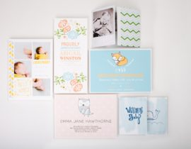 Baby J's Birth Announcement Cards