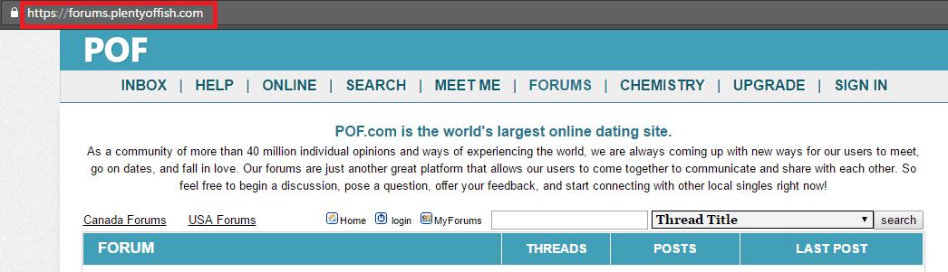 Plentyoffish forums