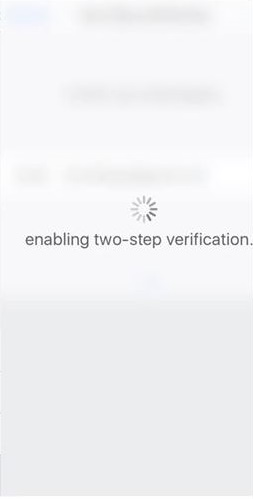 two-step verification on iOS