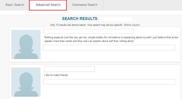 Pof canada basic search