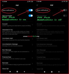 Notifications pof app POF Not