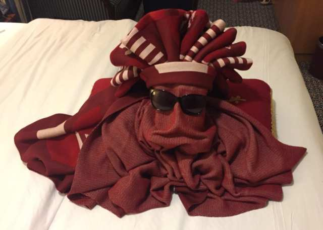 Towel Origami Octopus, Disney Cruise
