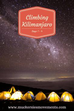 Climbing Kilimanjaro Days 1 - 4
