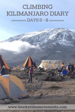 Climbing Kilimanjaro Diary Days 5-8