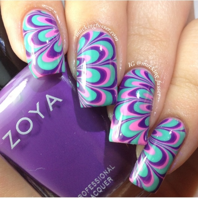 How To Do Water Marble Nail Art