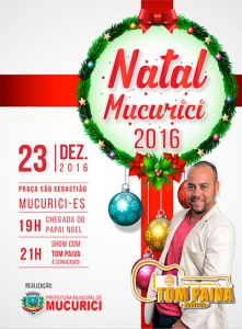 Prefeitura realiza a chegada do Papai Noel