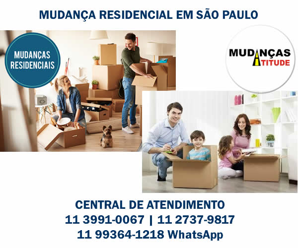 Mudança residencial em São Paulo