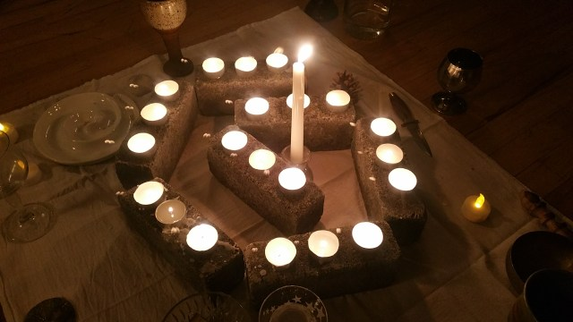 Photo of altar from Imbolc ritual