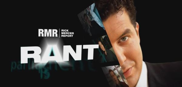 "Screenshot of the title of the ""Rick's Rant"" section of ""The Rick Mercer Report""."