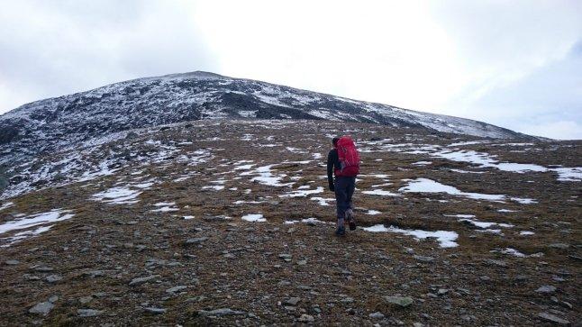 View from ridge that starts in Gerlan.