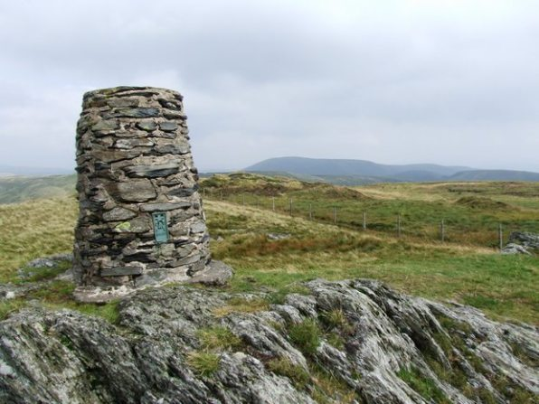 Summit trig Of Waun Oer