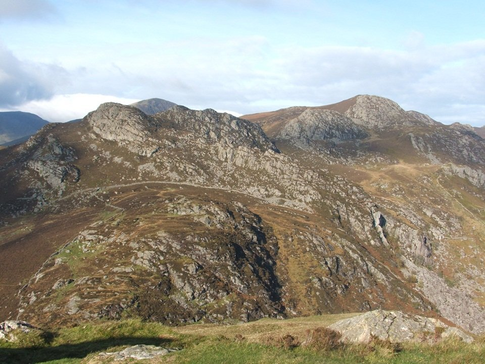 Craig Wen and Creigiau Gleision taken from Crimpiau