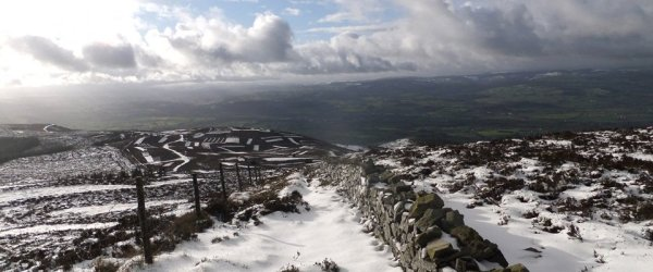 The Clwydian Hills and Moel Famau from Loggerheads