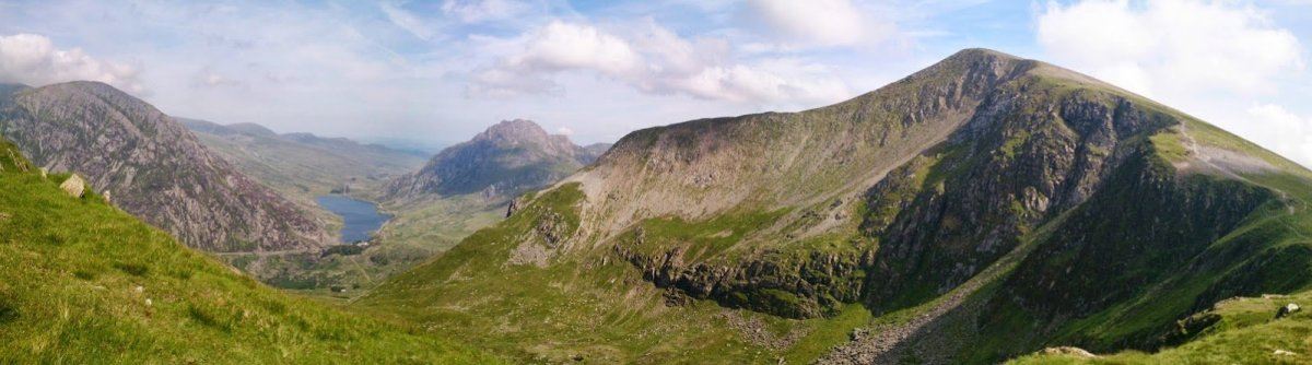 Y Garn and Llwybr y Carw from Nant Peris
