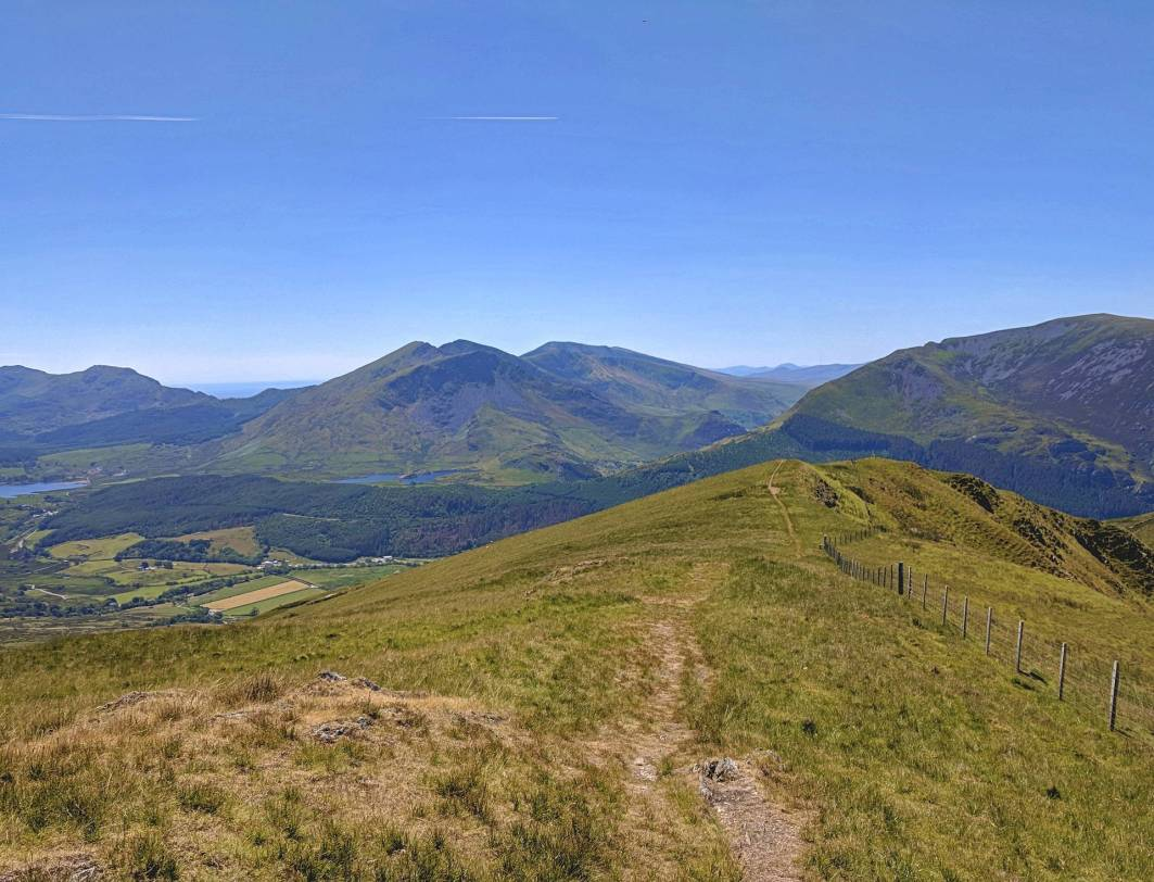Walk up Moel Cynghorion from Snowdon Ranger Circular Route