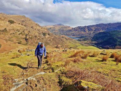 Walk to Cwm Bleiddiaid and Nant Gwynant from Craflwyn Hall