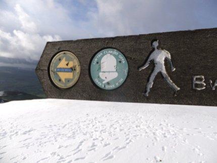 Offa's Dyke National Trail signpost on Moel Famau