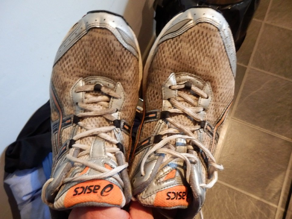 Fabric Duct Tape Repair Running Shoes