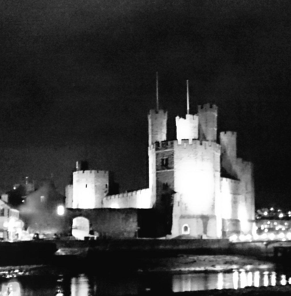 Caernarfon Castle from across the Seiont.