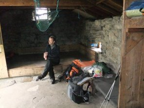 Inside the Sourlies Bothy
