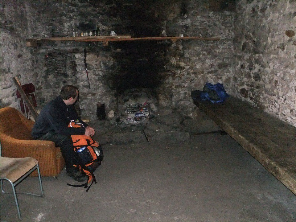 Inside corryhully Bothy