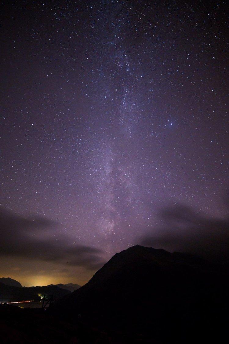 Milky Way over Gallt y Wenallt. Still some light pollution :-(