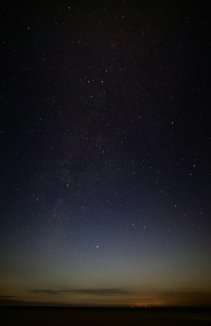 Milky Way, even at almost full moon