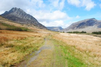 The Snowdonia Way Tryfan and Pen Yr Ole Wen on the route through the Ogwen Valley