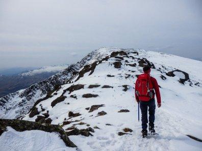 Moel Siabod in snow