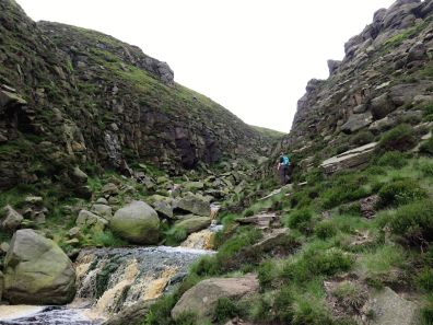 Walk up Kinder Scout from Edale via Grindsbrook Clough