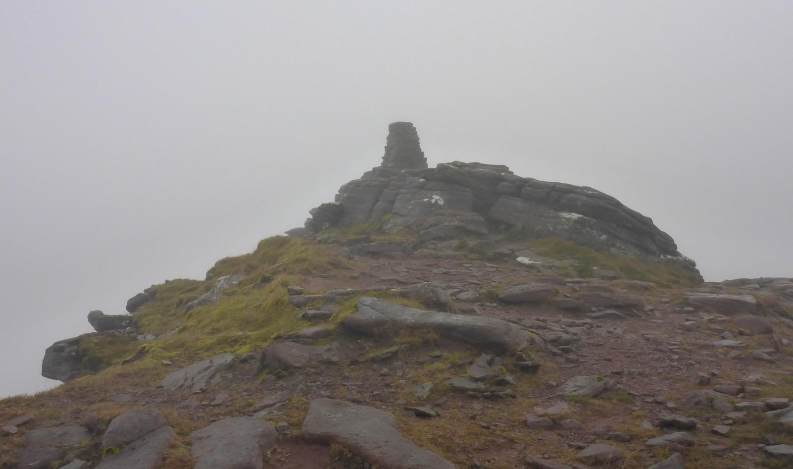 The summit of Tom na Gruagaich