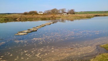 Anglesey Coastal Path Stage 8 Llanfair PG to Newborough - Llyn Rhos Du
