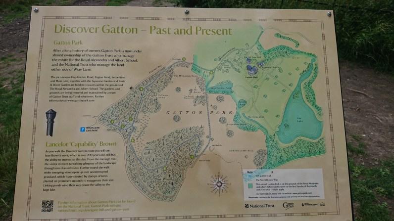 Information board at Gatton Park