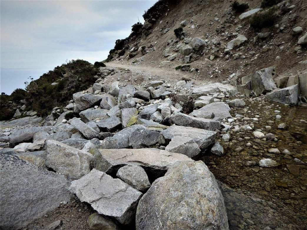 Walk up Chimney Rock Mountain via Carr's Face Quarry