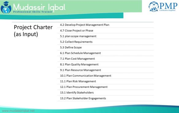 Project Charter Output
