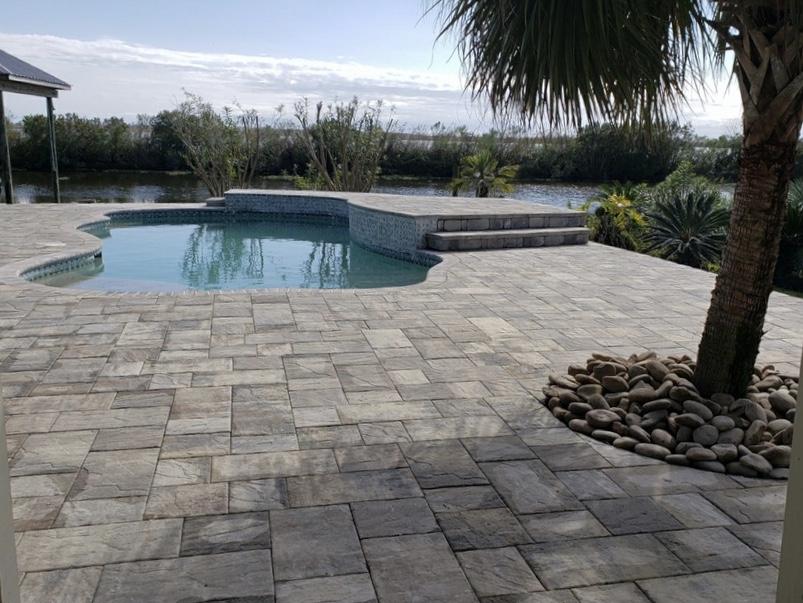 pool patio remodel in madisonville la
